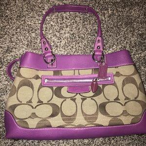 Monogram coach purse